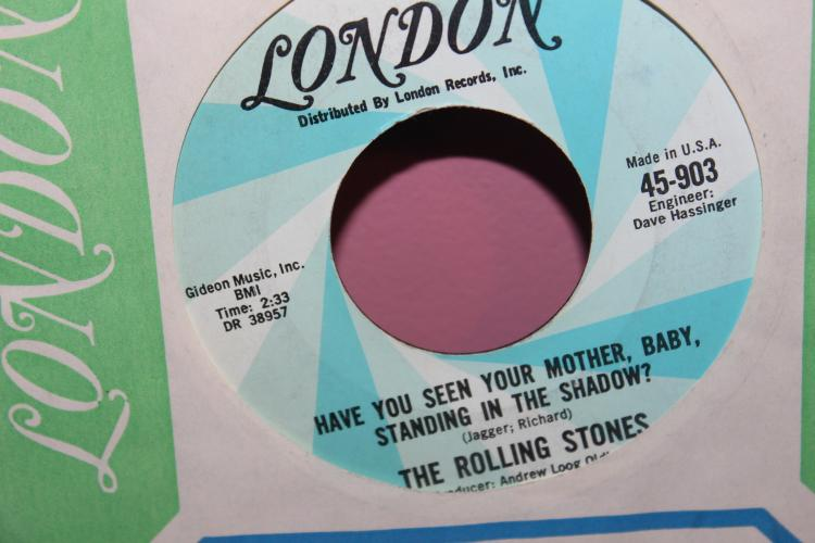 STONES WHO'S DRIVING MY PLANE LONDON RECORDS 45903 LIKE NEW
