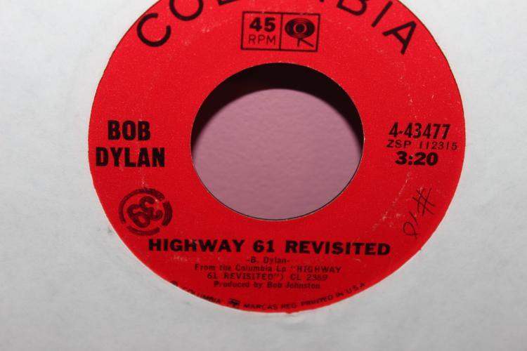DYLAN – COLUMBIA 443477 LIKE NEW 45 RPM HIGHWAY 61 REVISITED