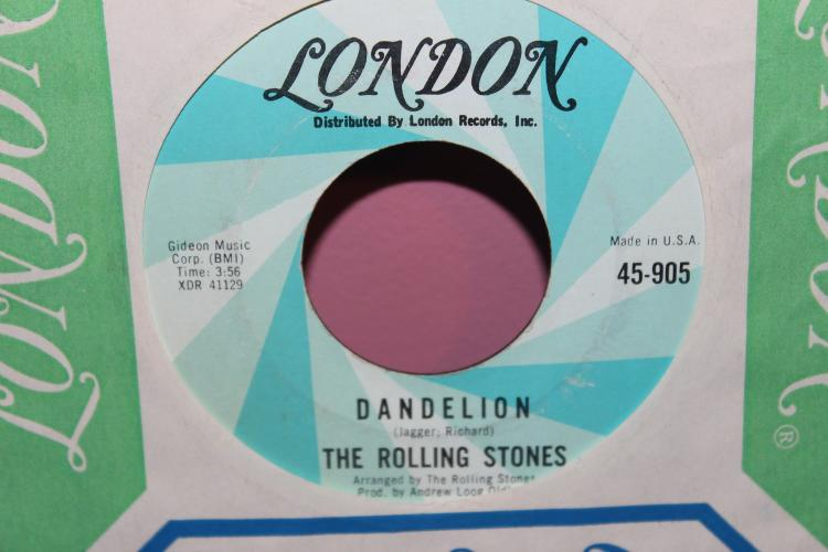 STONES LONDON 905 DANDELION 45 RPM LIKE NEW