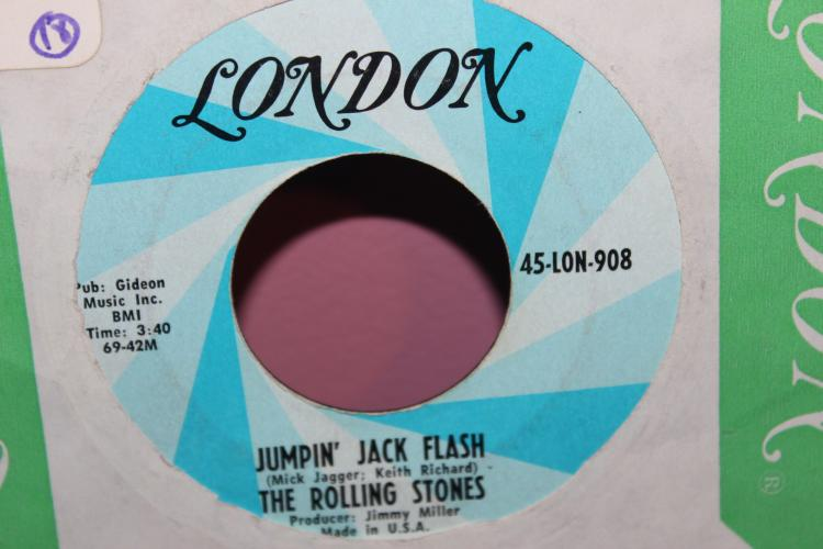 ROLLING STONES JUMPIN JACK FLASH 45 RPM LONDON RECORD 908 LIKE NEW