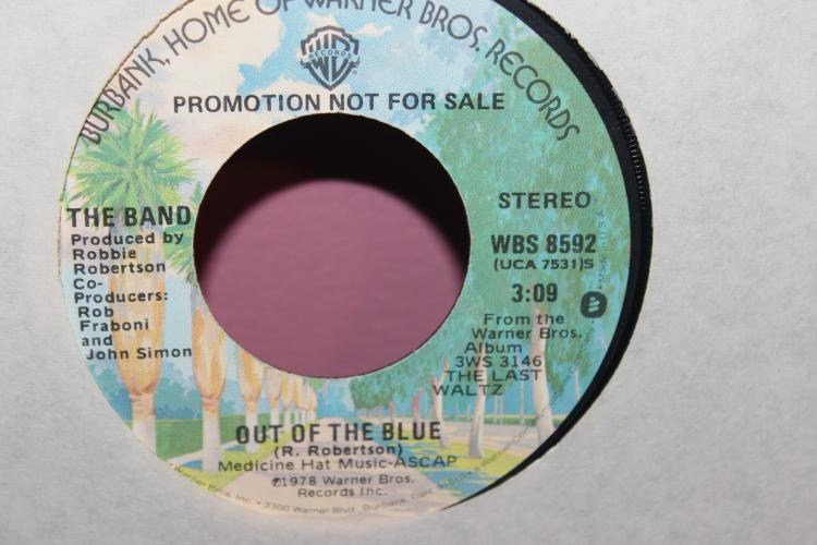 PROMOTIONAL ONLY NOT FOR SALE THE BAND- 1978 WARNER BROS. OUT OF THE BLUE VERY GOOD COND.