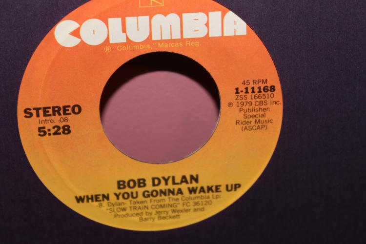 DYLAN – WHEN YOU GONNA WAKE UP 1979 COLUMBIA 1-11168 LIKE NEW