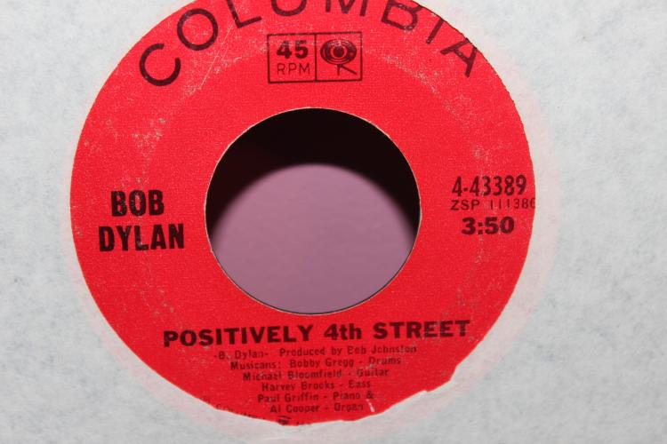 DYLAN POSITIVELY 4TH STREET COLUMBIA 4-43389 45 RPM LIKE NEW