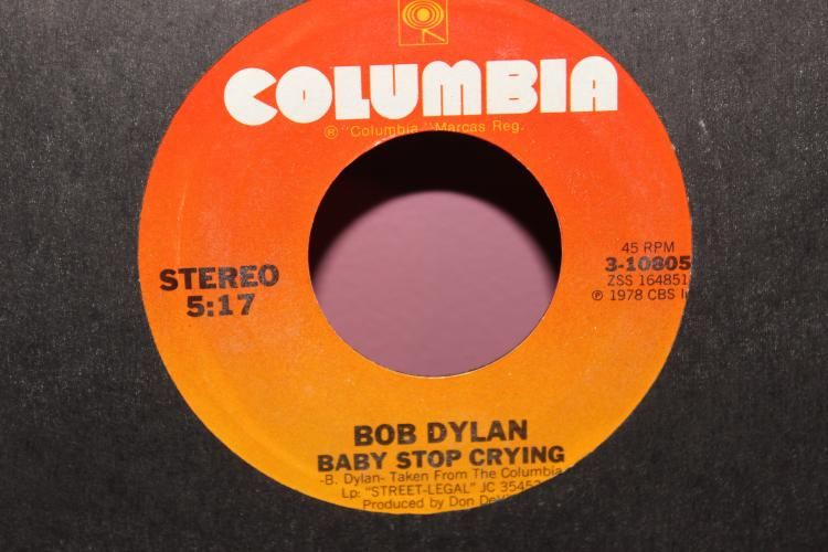 DYLAN – BABY STOP CRYING 1978 COLUMBIA 310805 LIKE NEW
