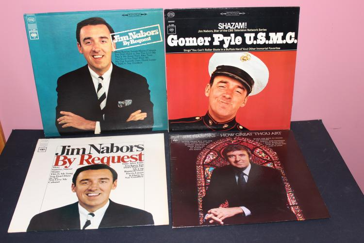 NICE LOT OF 4 GOMER PILE – JIM NABORS L.P.s ALL VERY GOOD COND. COLUMBIA