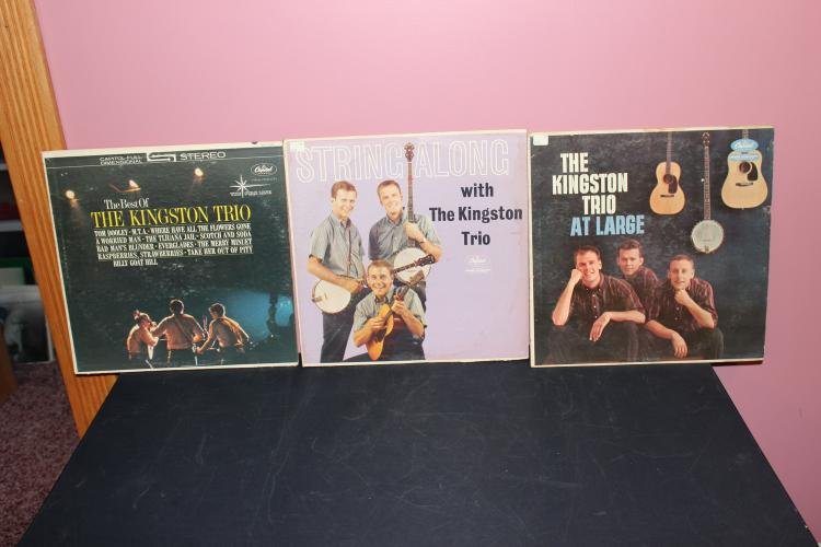 3 KINGSTON TRIO ALBUMS ALL GOOD PLAYABLE COND.