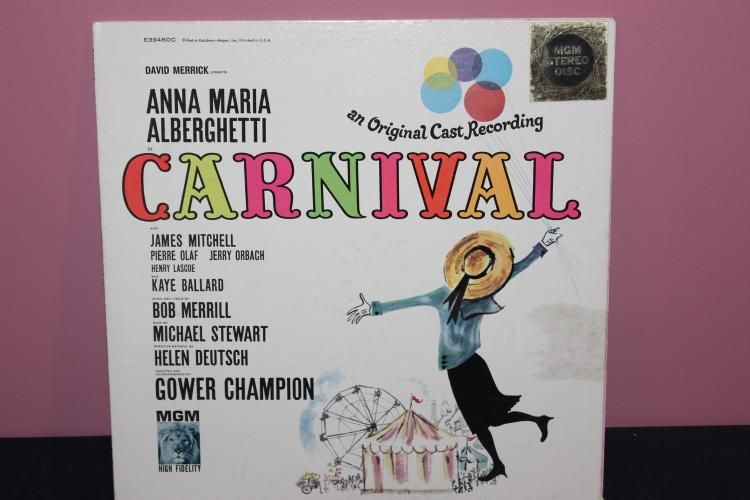 ORIG. CAST RECORDING CARNIVAL GATE FOLD ALBUM L.P. LIKE NEW