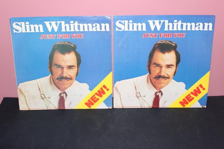 2 SLIM WHITMAN 1980 LIBERTY RECORDS SLL 8140 LIKE NEW