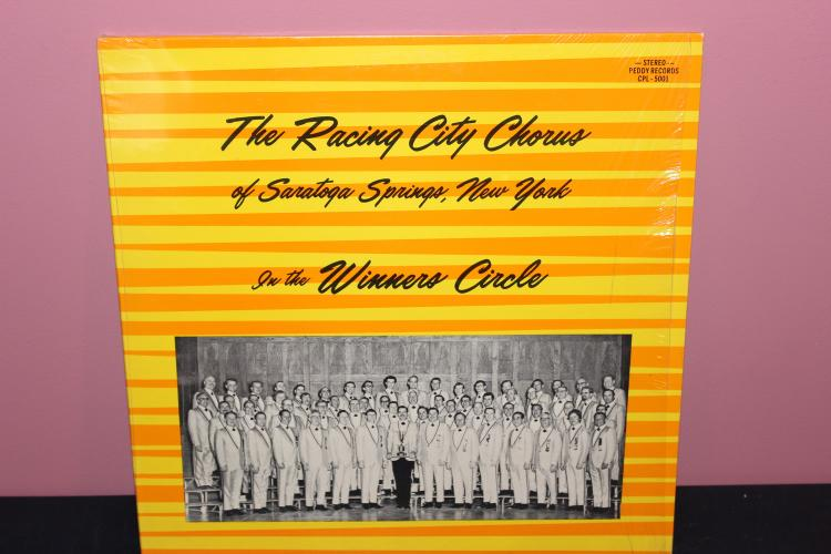 RARE PEDDY RECORDS RACING CITY CHORUS SARATOGA SPRINGS N.Y. VERY GOOD CONDITION