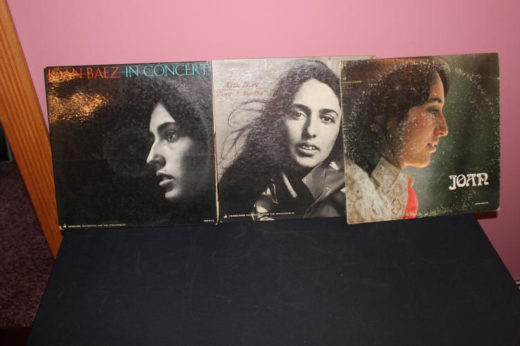 3 LOT OF JOAN BAEZ L.P. ALL L.P. LIKE NEW – 1 DATED 1965 AND 1967 – 1 UNDATED