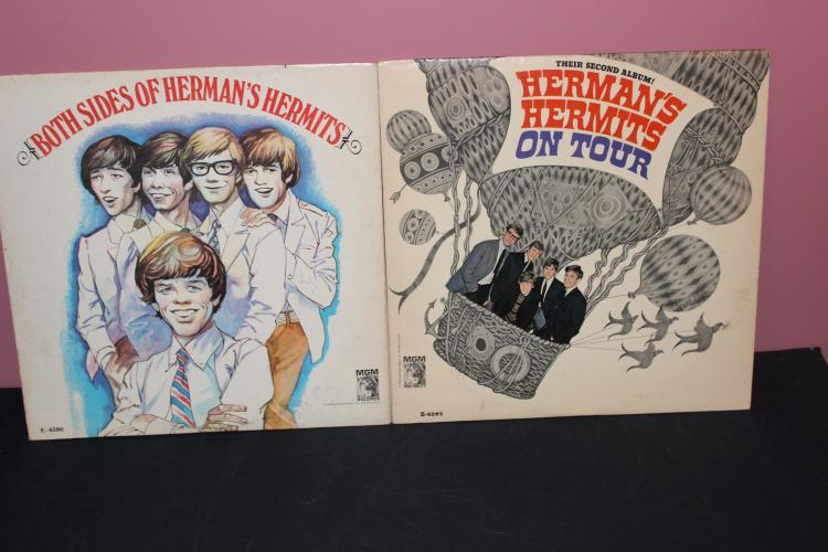 2 SUPER L.P. ALBUMS HERMANS HERMITS VERY GOOD CONDITION OR BETTER MGM E- 4386 AND 4295