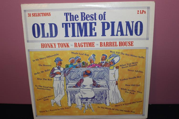 OLD TIME PIANO MIXED SELECTIONS 31 DOUBLE L.P. ALBUM CAPE MUSIC 201 LIKE NEW