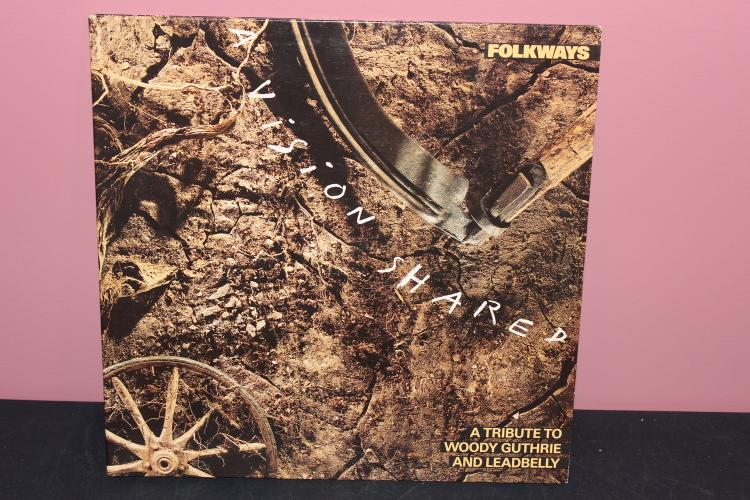 FOLKWAYS VISION SHARED A TRIBUTE TO WOODY GUTHRIE AND LEADBELLY 1888 LIKE NEW COLUMBIA BL 44034