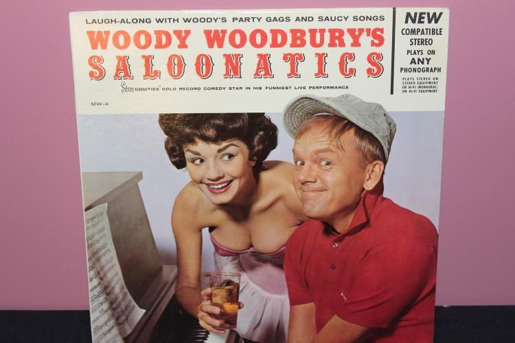 COMEDY WOODY WOODBUR'S SALOONATICS STEREODDITIES 1961 - VERY GOOD COND