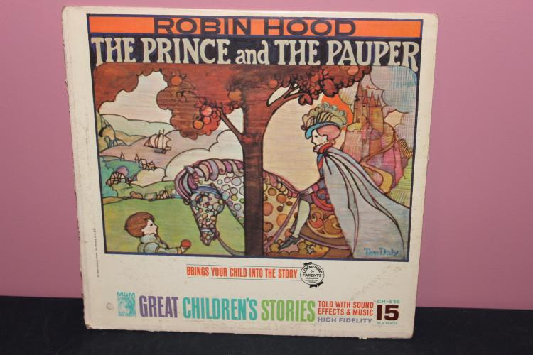 ROBINHOOD MGM CHILDRENS TALKING RECORD W/ SOUND EFFECTS - VERY GOOD COND