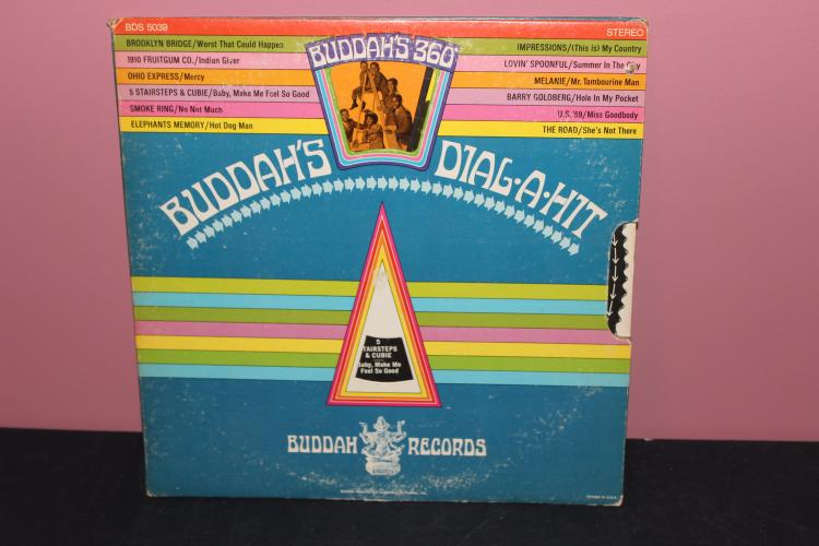 BUDDAHS 360 DIAL A HIT - 12 HITS BY ORIG. ARTISTS - BUDDAH RECORDS - LIKE NEW