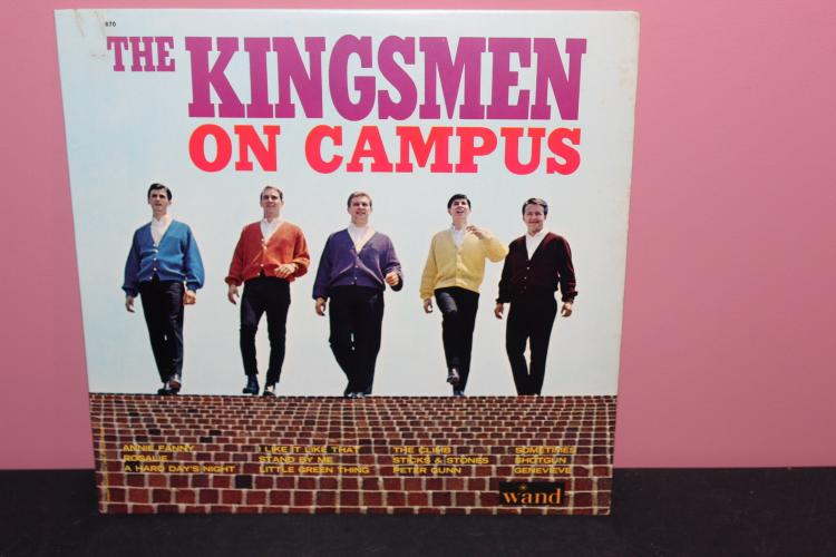 KINGSMEN ON CAMPUS - WAND RECORDS - FEW BLEMISHES - VERY PLAYABLE