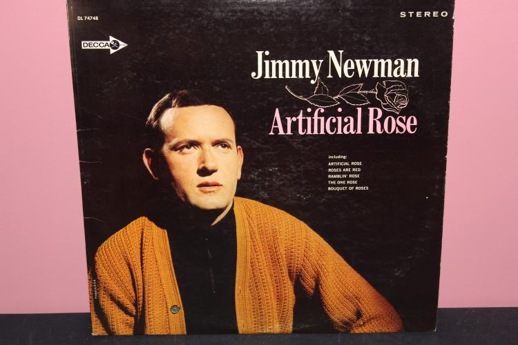 JIMMY NEWMAN ARTIFICIAL ROSE - DECCA DL7478 - LIKE NEW PROMOTION COPY - NOT FOR SALE