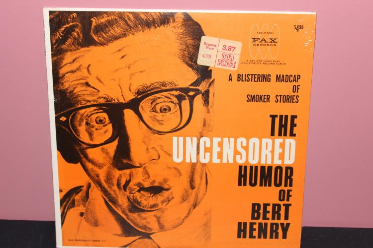 BERT HENRY HUMOR FACTORY SEALED - UNOPENED- FAX RECORDS - 1962