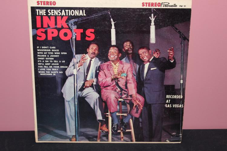 THE INK SPOTS - RECORDED IN LAS VEGAS - DIPLOMAT RECORDS - FEW MINOR SCRATCHES - VERY PLAYABLE