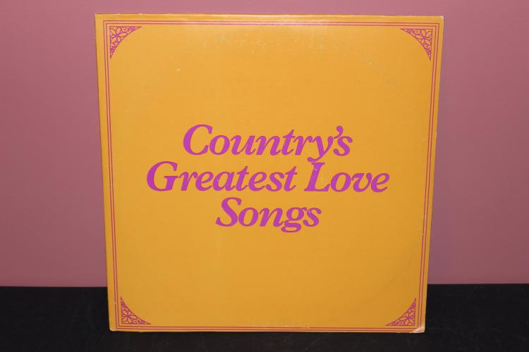 COUNTRY GREATEST LOVE SONGS - 2 L.P. RECORD SET - COLUMBIA TREASURY - ORIG. ARTIST - VERY GOOD COND.
