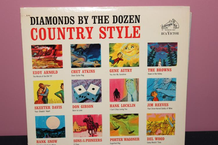 DIAMONDS BY THE DOZEN - ALL SONGS BY ORIG. ARTISTS - 1963 RCA LPM2668 - GOOD COND