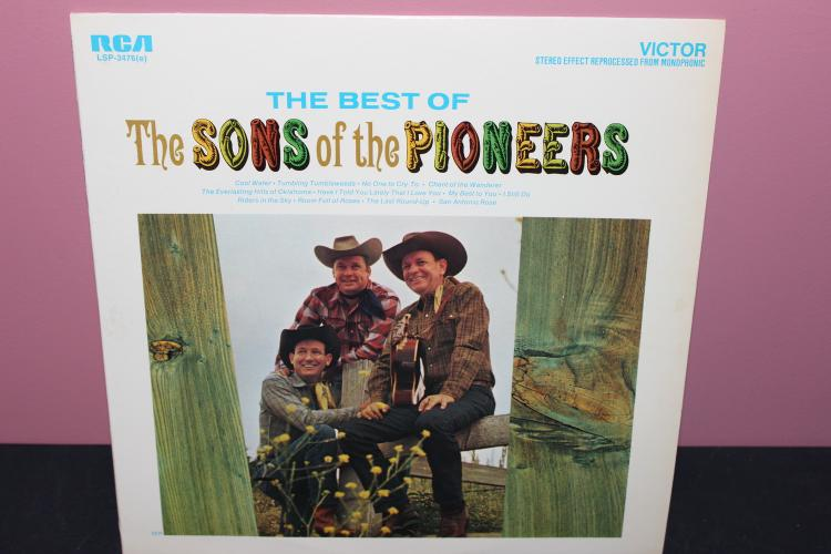 SONS OF THE PIONEERS BEST ALBUM - RCA LSP3476 - LIKE NEW