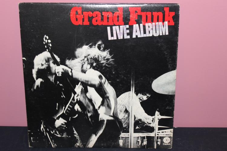 GRAND FUNK LIVE - 2 LP RECORD SET - ATLANTA INTERNATIONAL POP FESTIVAL 1970 - NEAR MINT