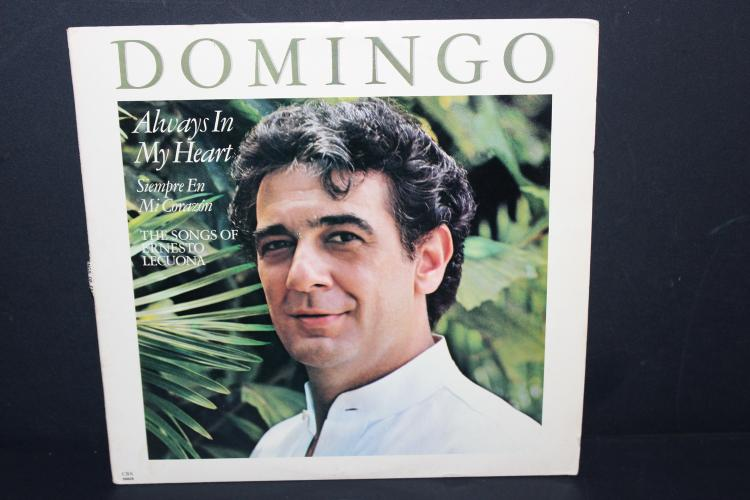 PLACIDO DOMINGO - ALWAYS IN MY HEART - 1984 CBS RECORDS - LIKE NEW
