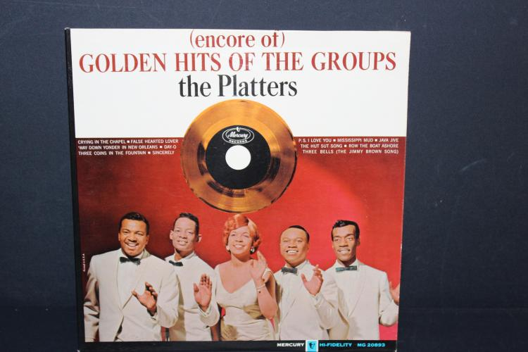 THE PLATTERS GOLDEN HITS - MERCURY RECORDS MC20893 - LIKE NEW