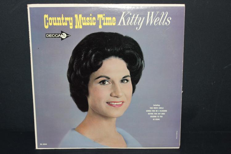 KITTY WELLS - DECCA RECORDS DL4554 - LIKE NEW