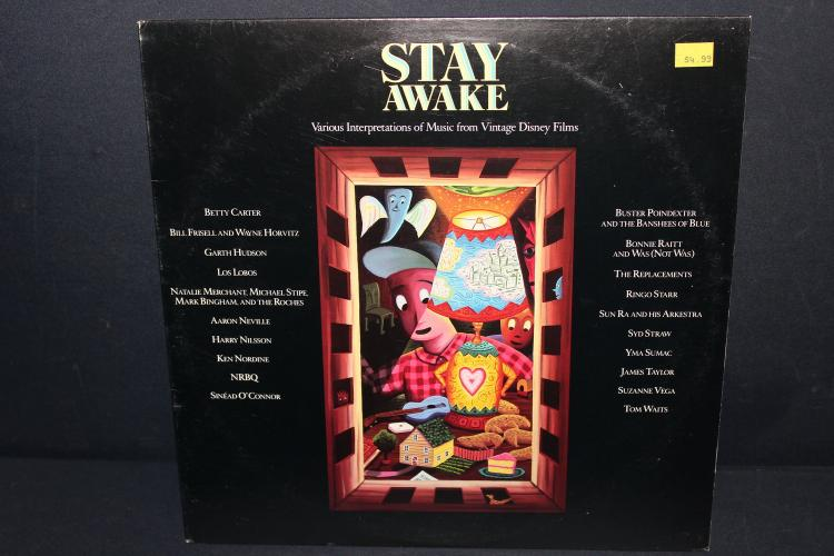 STAY AWAKE MUSIC FROM VINTAGE DISNEY FILMS - SEVERAL WELL KNOWN VOICES - 1988 AM RECORDS