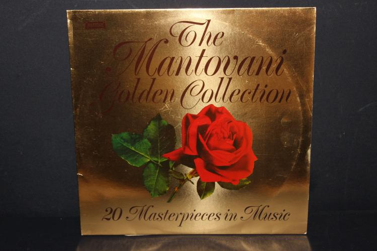 THE MANTOVANI GOLDEN COLLECTION - 20 SELECTIONS UNUSUAL L.P. IN BLUE - 1979 WARWICK RECORDS 5067 - LIKE NEW