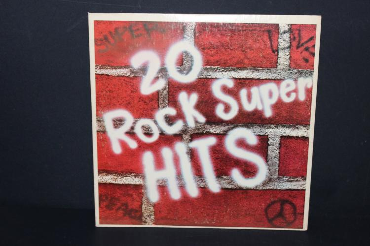 20 SUPER ROCK HITS - COLUMBIA TREASURY 1973 - LIKE NEW ALL BY ORIG. ARTISTS - 2 RECORD SET
