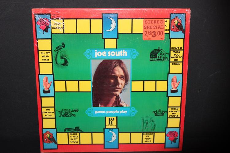 JOE SOUTH GAMES PEOPLE PLAY - PICKWICK RECORDS - VERY GOOD COND