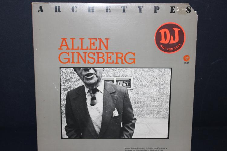 ALLEN GINSBERG D.J. COPY - NOT FOR SALE - M.G.M. RECORDS 1974 - LIKE NEW