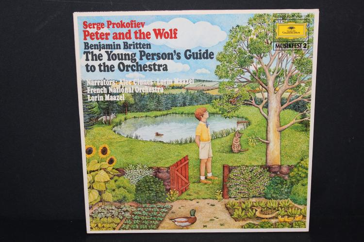 SERGE PROKOFIEV - PETER & THE WOLF - MADE IN GERMANY 1963 DEUTSCHE GRAMMOPHON - MINT COND