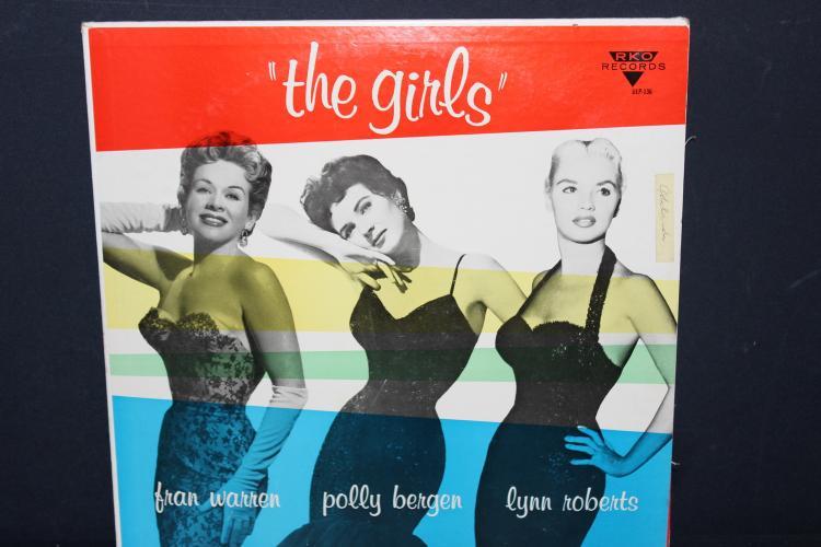 RKO RECORDS VLP136 THE GIRLS - FRAN WARREN, POLLY BERGEN, LYN ROBERTS - LIKE NEW