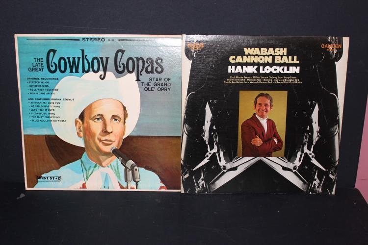 2 ALBUM LOT - HANK LOCKLIN CAMDEN COWBOY COPAS GUEST STAR RECORDS LIKE NEW