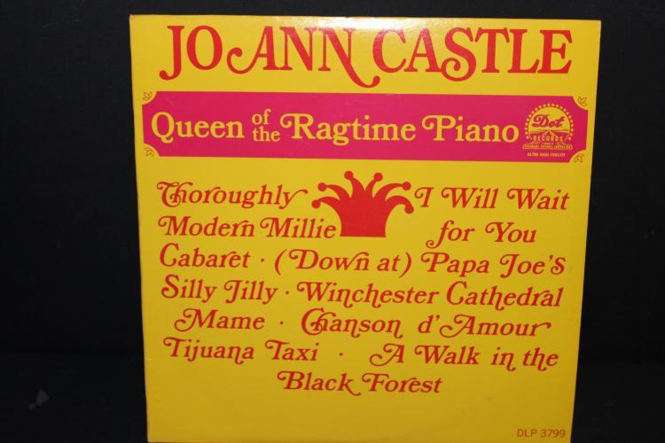 JO-ANN CASTLE QUEEN OF RAGTIME PIANO - DOT RECORDS DPL3799 - LIKE NEW
