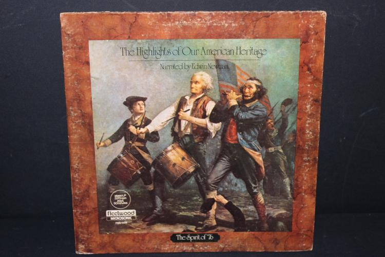 HIGHLIGHTS OF OUR AMERICAN HERITAGE NARRATED BY EDWIN NEWMAN - 90 MINUTES - LIKE NEW GATEFOLD