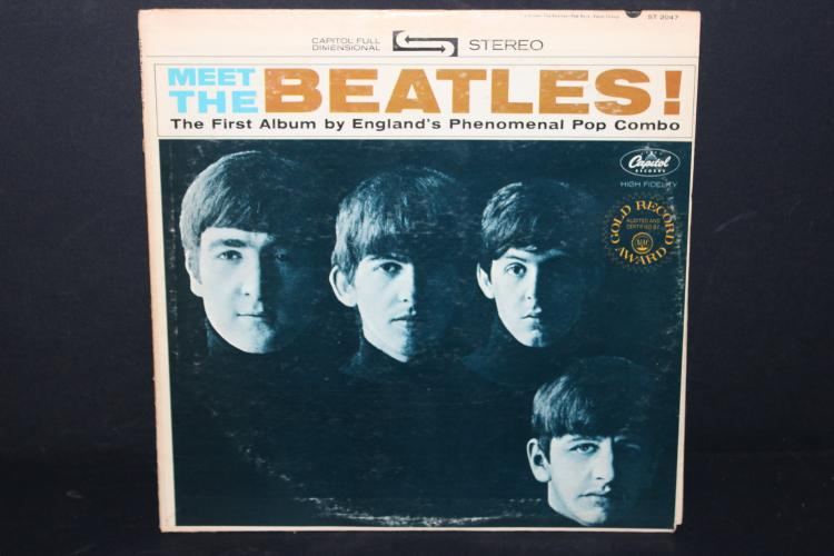 MEET THE BEATLES 1ST ALBUM RECORDED IN ENGLAND CAPITAL RECORDS LIKE NEW