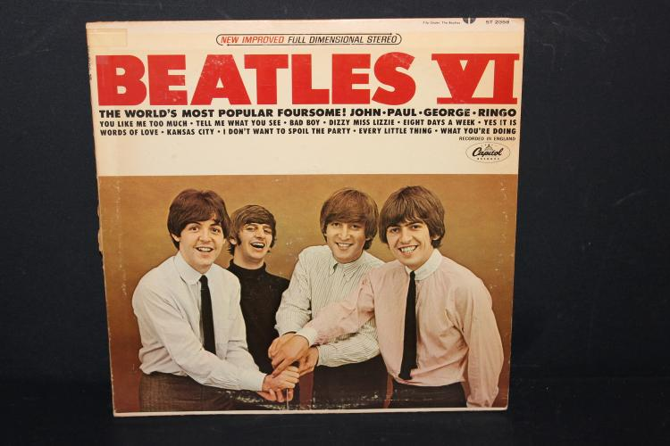 BEATLES 6 CAPITAL RECORDS ST 2358 RECORDED IN ENGLAND L.P. LIKE NEW