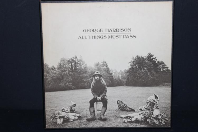 GEORGE HARRISON ALL THINGS MUST PASS 3 ALBUM SET WITH POSTER AND LYRIC BOOKLET APPLE RECORDS – RECORDED IN ENGLAND