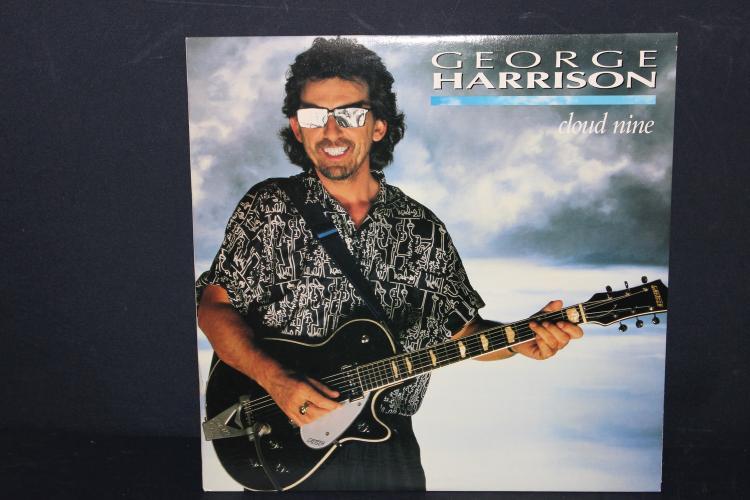 GEORGE HARRISON CLOUD NINE 1987 DARK HORSE RECORDS W/ RINGO, CLAPTON, ELTON JOHN , JEFF LYNNE AND GARY WRIGHT LIKE NEW