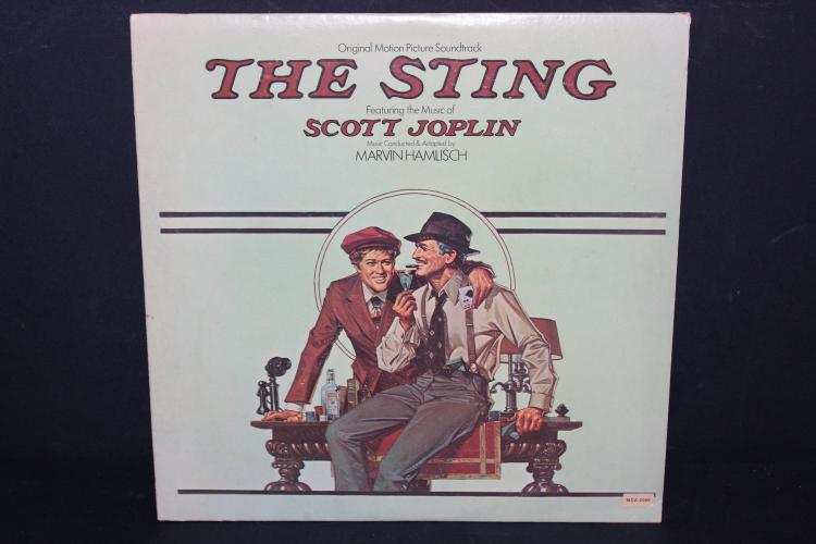 THE STING- ORIG- MOVIE SOUNDTRACK GREAT MUSIC GREAT MOVIE HEAR IT THE WAY IT WAS MENT TO BE HEARD ON YOUR STEREO MCA 2040 LIKE NEW