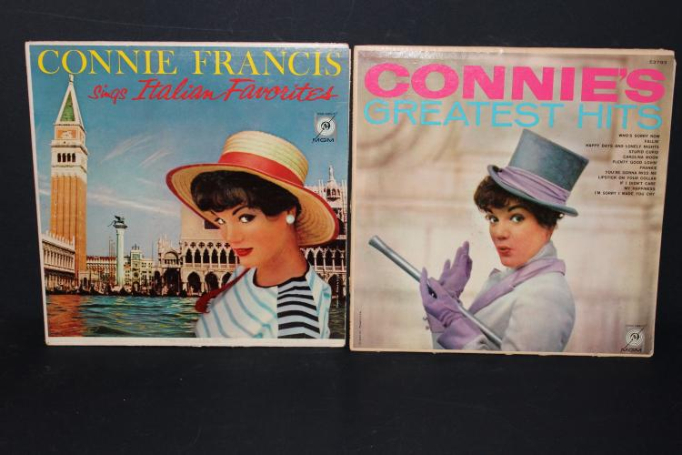 2 ALBUM LOT CONNIE FRANCES GREATEST HITS AND CONNIE SINGS ITALIAN L.P. LIKE NEW MGM 3793-3791 ALBUMS SPLIT END
