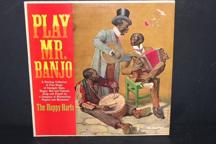 PLAY MR. BANJO THE HAPPY HARTS KAPP RECORDS LIKE NEW