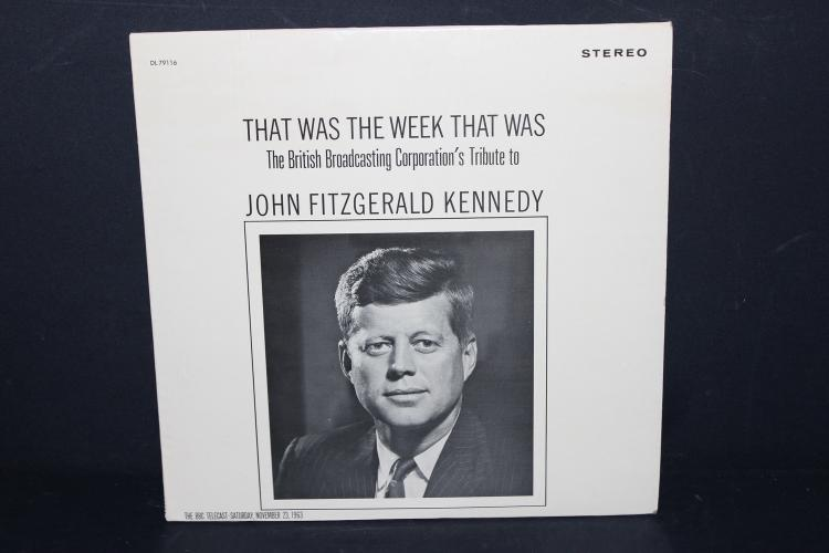 THAT WAS THE WEEK THAT WAS- THE BRITISH BROADCATING CORP. TRIBUTE TO JOHN F. KENNEDY 1963 LIKE NEW