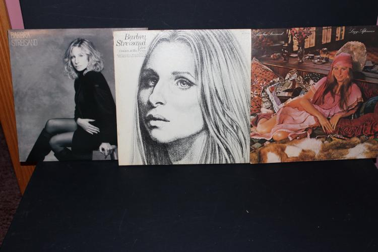 LOT OF 3 ALBUMS BARBRA STREISAND 1975,88, 1972 2 GATEFOLD WITH POSTER CBS RECORDS LIKE NEW